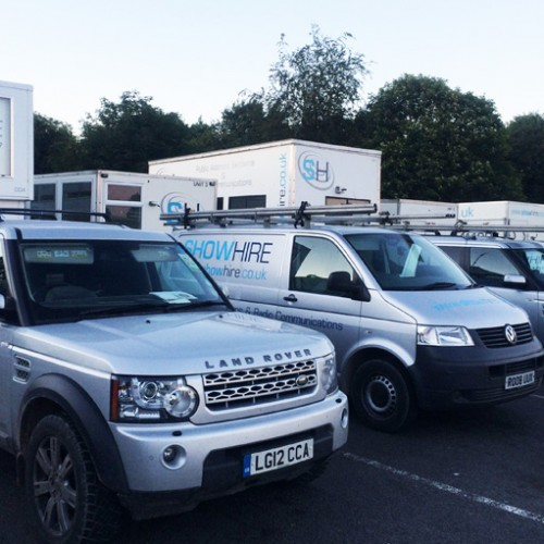 The Show Hire convoy ready for a day or rigging.